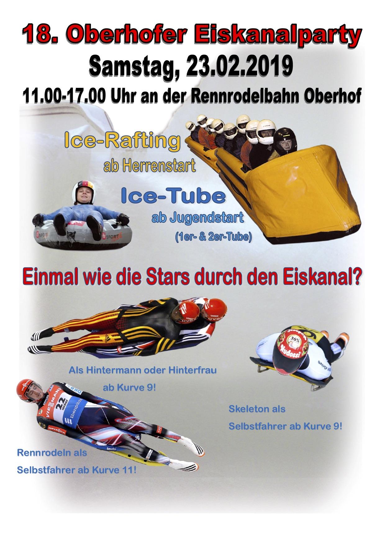 18. Oberhofer Eiskanalparty am 23.2.19