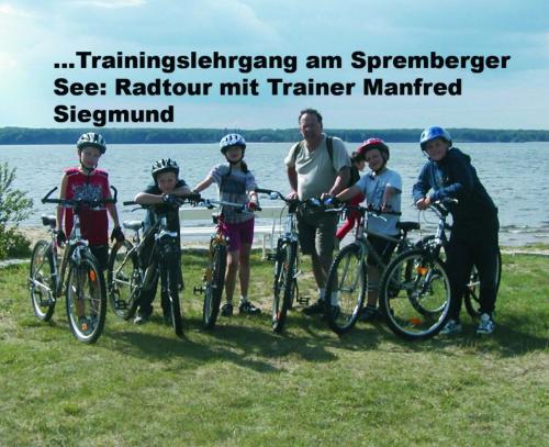 Radfahrenen mit Herrn Siegmund